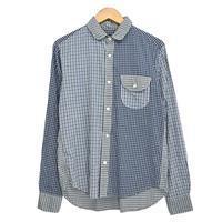 MR.OLIVE ラウンドカラーチェックシャツ