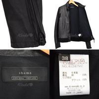 shama カウレザー ジャケット ブルゾン 41247NU 【5月20日値下】