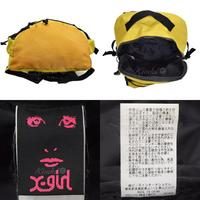 X-girl LOGO EMBROIDERED BACKPACK バックパック 05163039 中古
